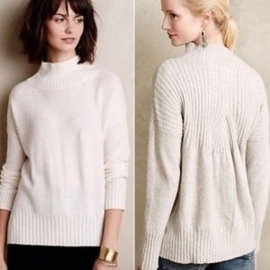 Anthropologie Aisla Mock Neck Pullover Sweater
